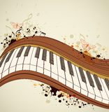 Pianino i notatki ilustracji