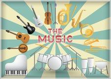 Muzyczny instrument Zdjęcia Royalty Free