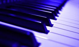 Muzyczny instrument - fortepianowej klawiatury zbliżenia widok fotografia royalty free