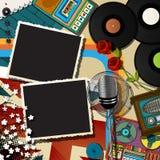 Muzyczny kolażu backound Zdjęcia Royalty Free