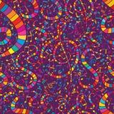 Muzyczny kolorowy bezszwowy wzór Obraz Royalty Free