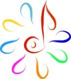Muzyczny logo Zdjęcie Stock