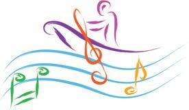 Muzyczny mężczyzna royalty ilustracja
