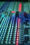 Muzyczny melanżeru wyćwiczenia dźwięk Obraz Royalty Free