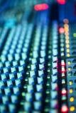 Muzyczny melanżeru wyćwiczenia dźwięk Zdjęcie Royalty Free