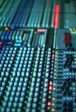Muzyczny melanżeru wyćwiczenia dźwięk Fotografia Royalty Free