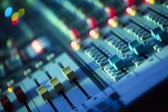 Muzyczny melanżeru wyćwiczenia dźwięk Zdjęcie Stock