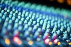 Muzyczny melanżeru wyćwiczenia dźwięk Zdjęcia Stock