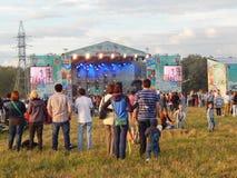 Muzyczny na otwartym powietrzu koncert w Moskwa Zdjęcie Stock