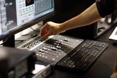 Muzyczny nagranie i mieszać w domu studio zdjęcia royalty free