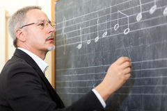 Muzyczny nauczyciel Fotografia Stock