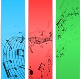 Muzyczny notatka kolor Fotografia Royalty Free