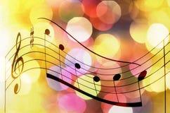 Muzyczny notatka wynika tło zdjęcia stock