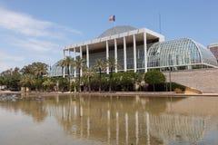 Muzyczny pałac w Walencja, Hiszpania Obrazy Royalty Free