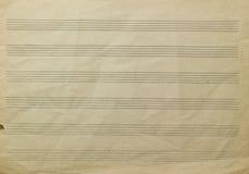 Muzyczny paper fotografia royalty free