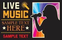 Muzyczny plakat Zdjęcia Royalty Free