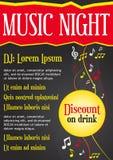 Muzyczny plakat ciemny tło - wektor - Zdjęcia Stock