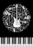 Muzyczny pojęcie okrąg Obrazy Royalty Free