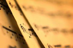 muzyczny prześcieradło Fotografia Royalty Free