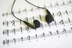 muzyczny prześcieradło Obraz Stock