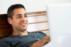 Muzyczny słuchacz obrazy royalty free