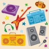 muzyczny set ilustracji