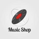 Muzyczny sklepu wektoru logo Zdjęcia Stock