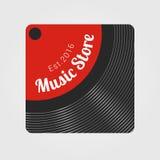 Muzyczny sklepu wektoru logo Fotografia Stock