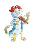 muzyczny skrzypce royalty ilustracja