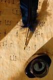 muzyczny stary prześcieradło fotografia stock