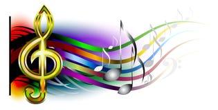 Muzyczny sztandar Obrazy Stock
