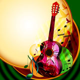 Muzyczny sztandar Zdjęcia Stock