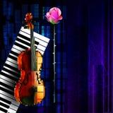 Muzyczny sztandar Fotografia Royalty Free