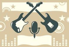 Muzyczny sztandar Obraz Royalty Free
