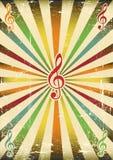 Muzyczny tło Obrazy Royalty Free