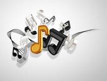 Muzyczny tło Zdjęcie Stock
