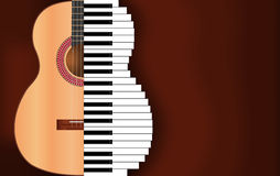 Muzyczny tło Ilustracja Wektor