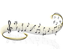 muzyczny temat Obrazy Royalty Free