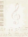 Muzyczny tło Fotografia Stock