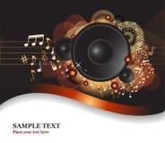 Muzyczny ulotki tło ilustracji