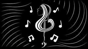 Muzyczny wewnętrzny świat Obraz Stock
