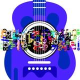 Muzyczny świat Obraz Royalty Free