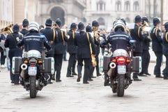 Muzyczny zespół lokalna policja w Milano zdjęcie royalty free