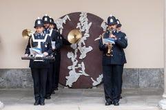 Muzyczny zespół lokalna policja w Milano Obrazy Royalty Free