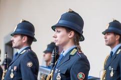 Muzyczny zespół lokalna policja w Milano Obraz Stock