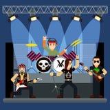 Muzyczny zespół na scenie rozrywki przedstawienie Obraz Stock