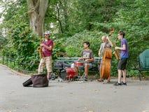 Muzyczny zespół w Ð  utumn central park Obraz Royalty Free