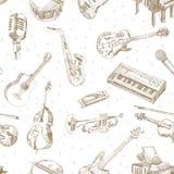 Muzycznych instrumentów wzór Fotografia Royalty Free