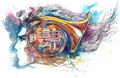 muzyk ilustracji