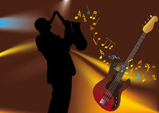 muzyk royalty ilustracja